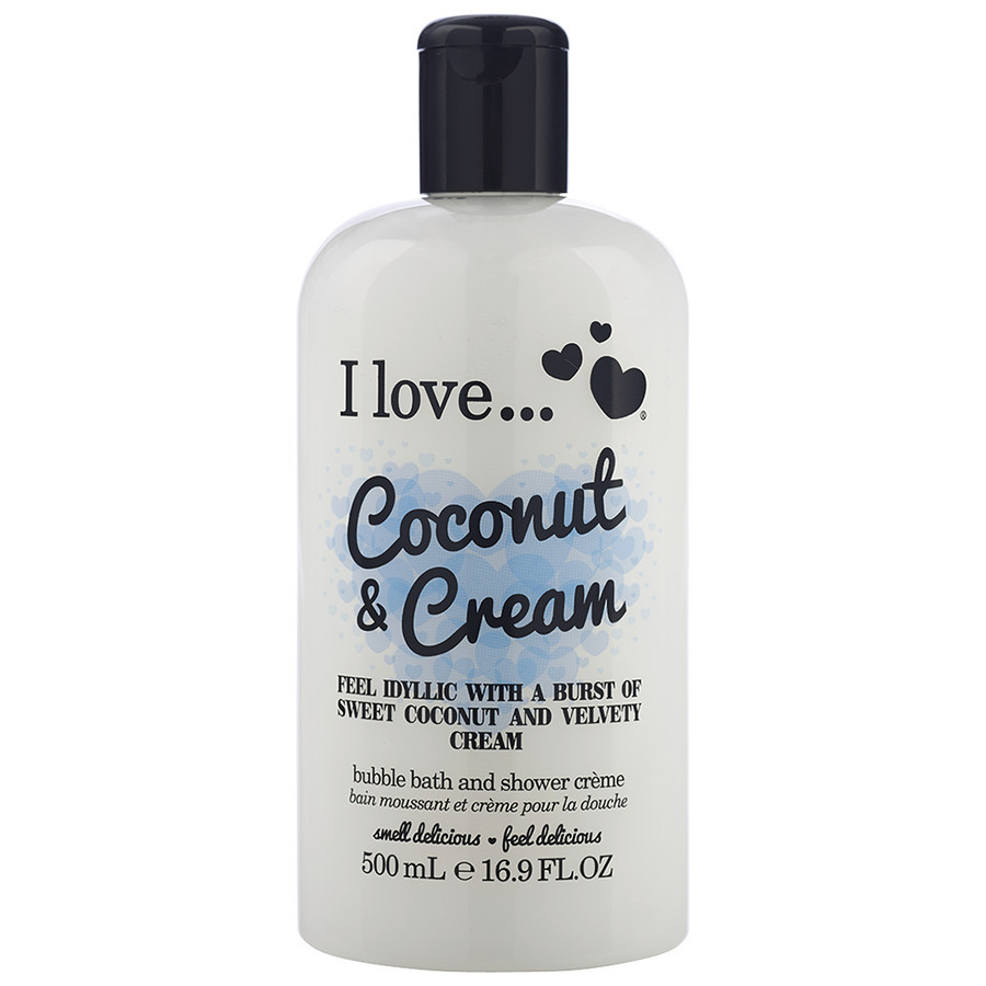 I love... Coconut& Cream Bubble Bath& Shower Cream